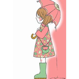 ポストカード【雨】*omotyabako