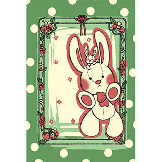 ポストカード【うさぎの国】*omotyabako