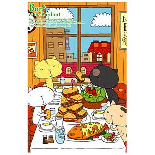 ポストカード【lunch time】*studio LITTLE WOOD