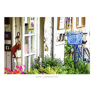 ポストカード【青い自転車。】*sora*_imagination