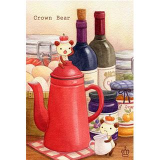 ポストカード【Crown Bear 朝ごはん】*Tea Drop