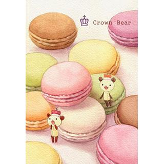 ポストカード【Crown Bear マカロン】*Tea Drop