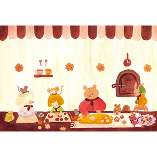 ポストカード【お菓子作り】* waka