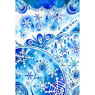 ポストカード【冬の蕾】* WATER+PALETTE