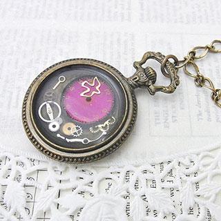 時をとじこめた懐中時計型のバッグチャーム * Xingfu☆☆