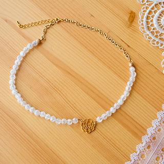 クラック水晶のネックレス * Gift